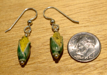 corn earrings with dime