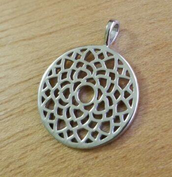 crown chakra sterling silver pendant