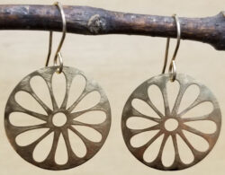 gold-tone daisy earrings by Joseph Brinton Jewelry