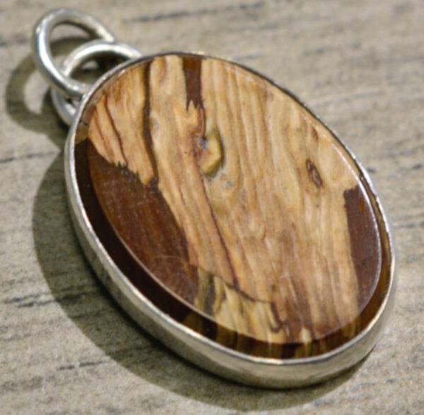 handmade Biggs Canyon jasper oval pendant