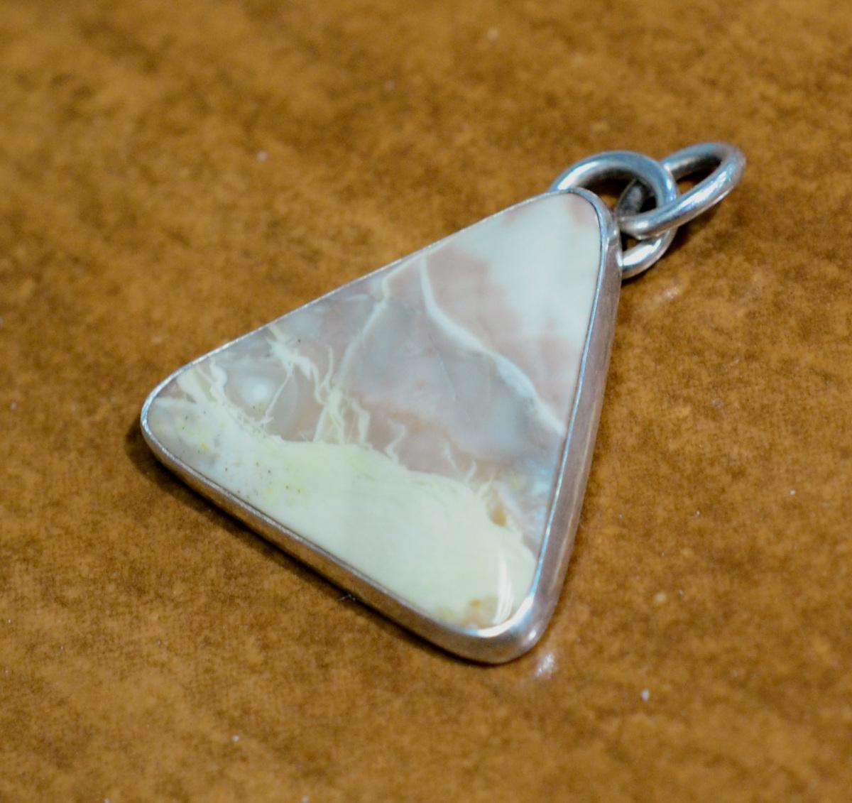 dale repp willow creek jasper triangle pendant