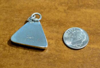 back of Dale Repp willow creek jasper triangle pendant