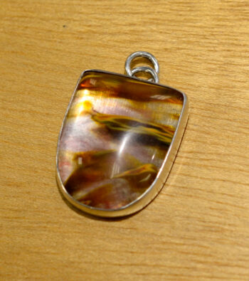 volcano quartz and sterling silver pendant handmade by Dale Repp