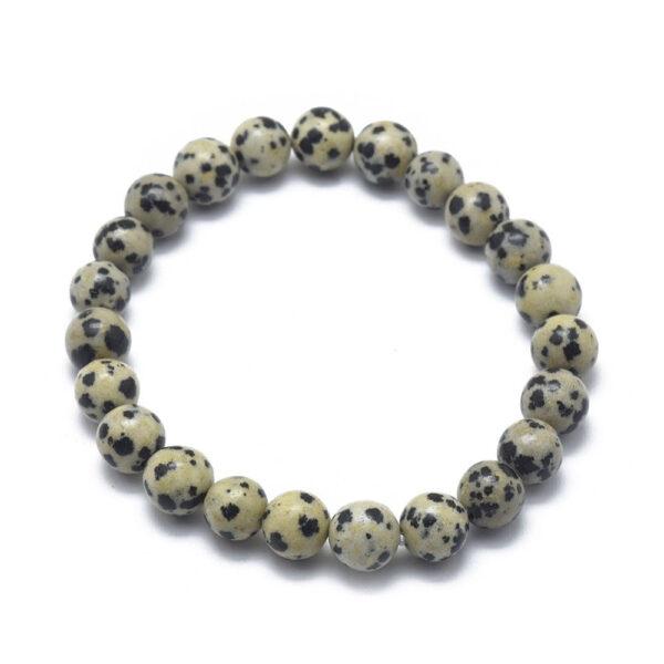 Dalmatian jasper 6 MM natural stone stretch bracelet