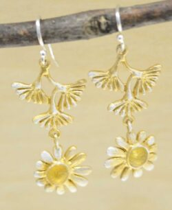 Michael Michaud Deco Daisy dangle earrings