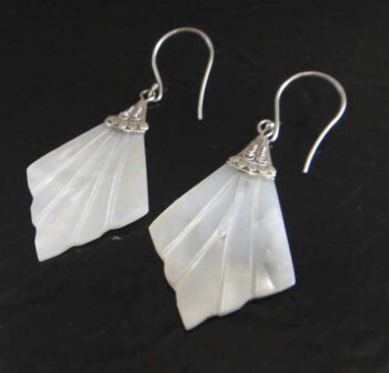 white mother of pearl shell earrings