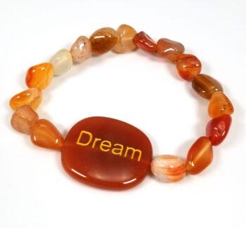Dream carnelian agate stretch bracelet