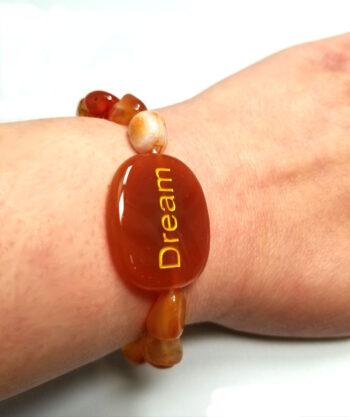 Dream gemstone bracelet on wrist