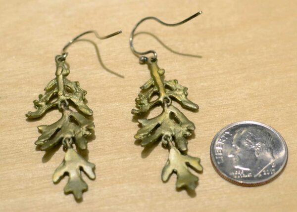 Michael Michaud Silver Seasons Dusty Miller dangle earrings back view
