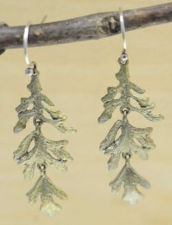 Michael Michaud Silver Seasons Dusty Miller Dangle earrings