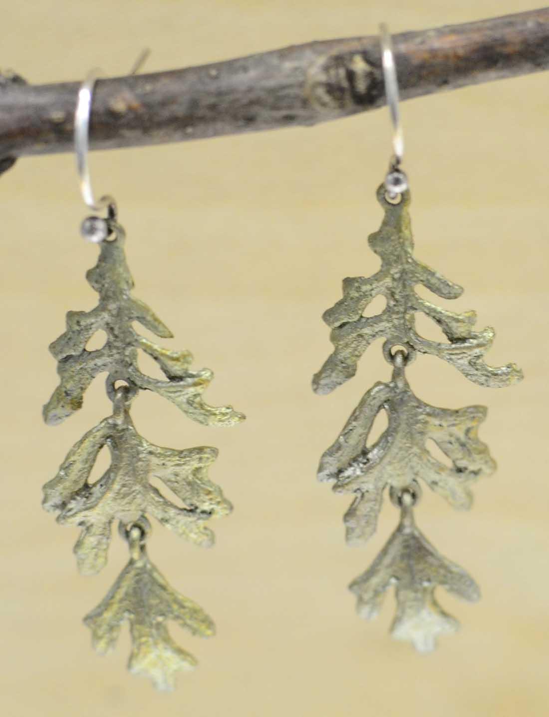 Michael Michaud Silver Seasons Dusty Miller Dangle earrings