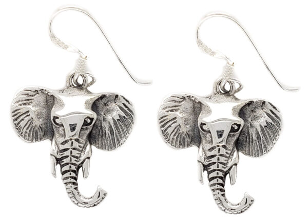 sterling silver elephant earrings