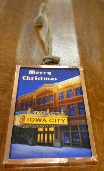 Merry Christmas from Iowa City Englert theater ornament