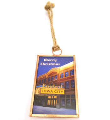 Iowa City's historic Englert Theatre ornament