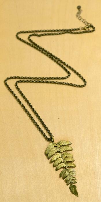 Michael Michaud Silver Seasons long fern necklace