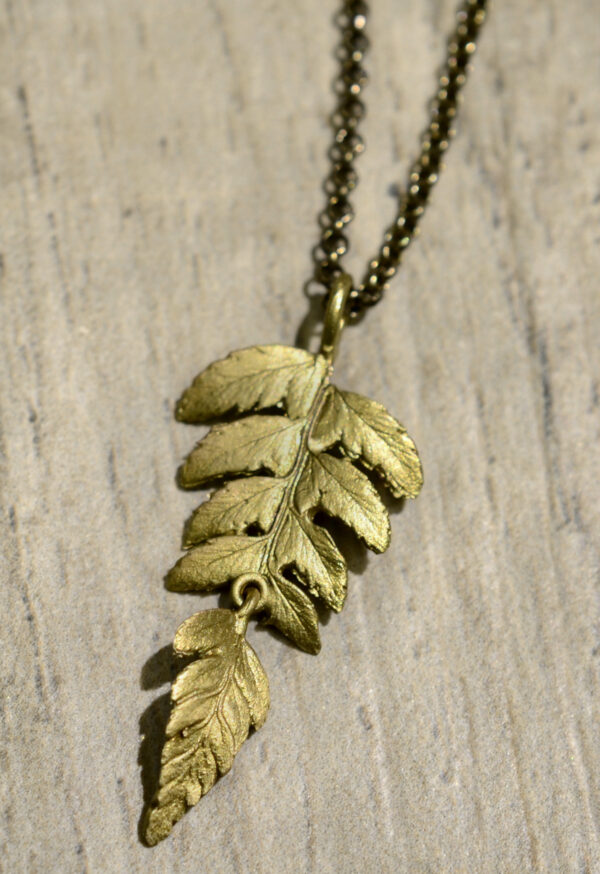 Michael Michaud Silver seasons collection fern necklace