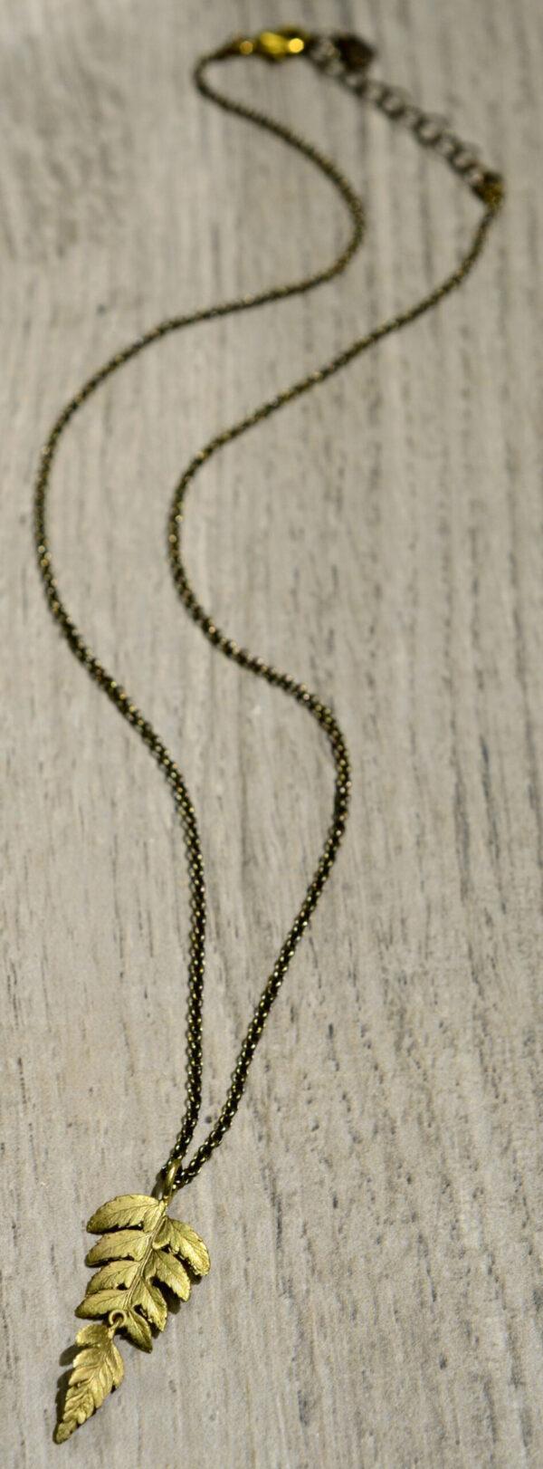 Michael Michaud Silver Seasons collection fern pendant necklace