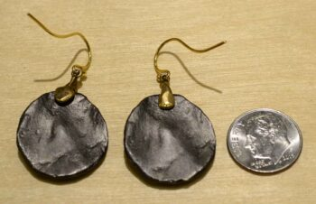 Second Nature jewelry fern on pebble dangle earrings