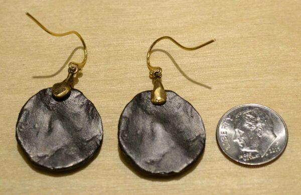 Second Nature jewelry fern on pebble dangle earrings