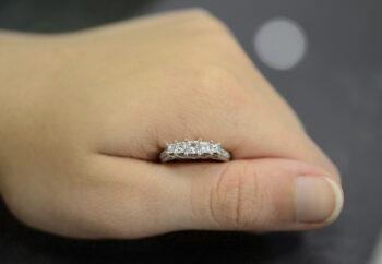 5 stone Princess cut diamond ring