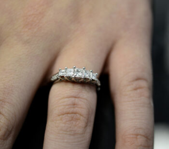 diamond ring with princess cut diamonds