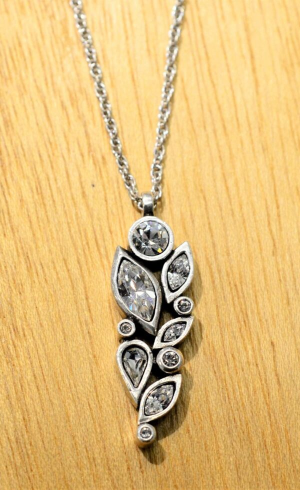 Patricia Locke Fleur silvertone necklace in All Crystal