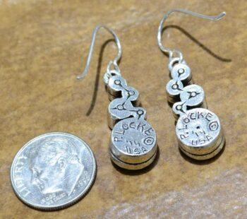 Patricia Locke Encore earrings in Fling back w/ dime