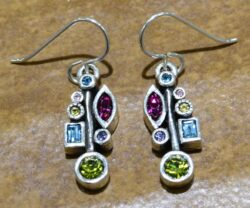 "Frostbite earrings in color palette ""Fling"" by Patricia Locke"