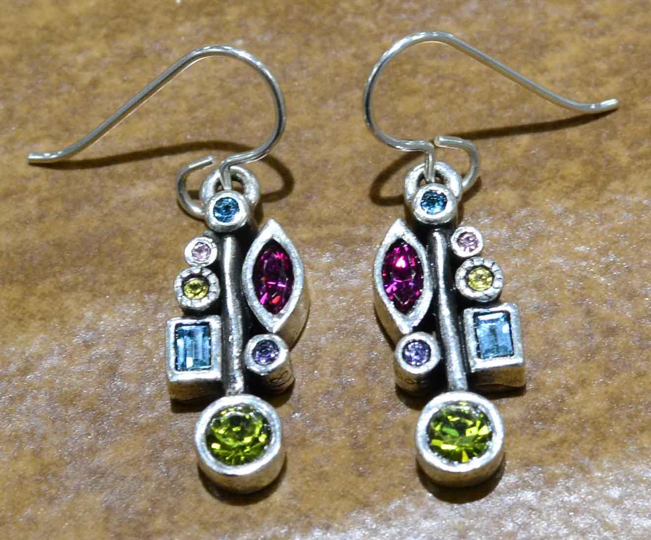 """Frostbite earrings in color palette """"Fling"""" by Patricia Locke"""