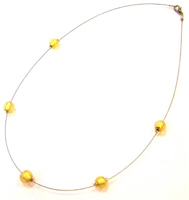 This Murano glass necklace is handmade.
