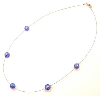 This Murano glass necklace is made from Murano glass