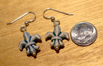 Fleur-de-lis and silver earrings