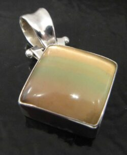 handmade fluorite square pendant
