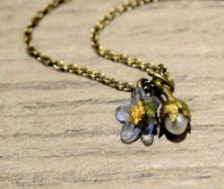 handmade Michael Michaud forget me not necklace