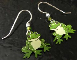 frog earrings by Sienna Sky