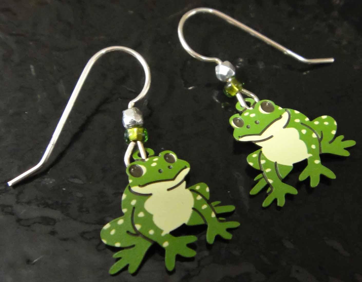 frog earrings by Sienna Sky