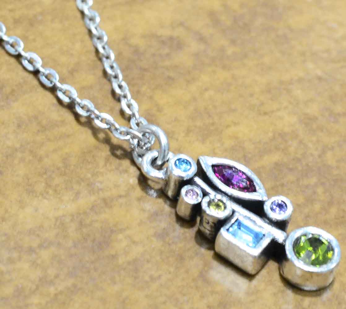 """Frostbite necklace in color """"Fling"""" by Patricia Locke"""