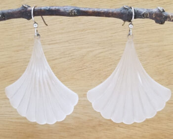 vintage lucite and sterling silver handmade earrings