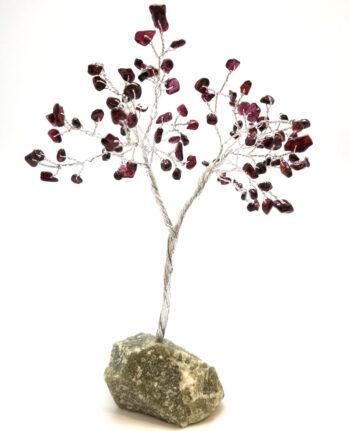 garnet gemstone tree sculpture