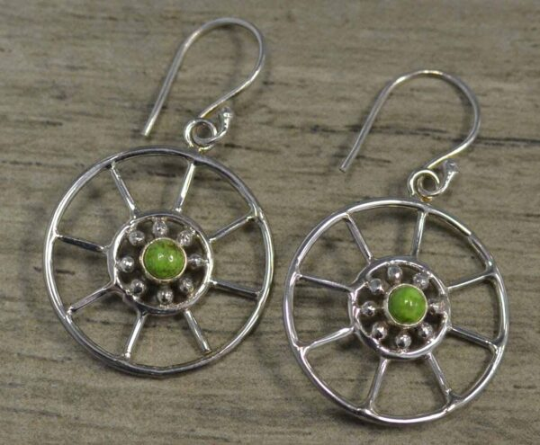 gaspeite and sterling silver earrings
