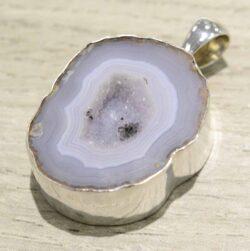 handmade geode druzy pendant
