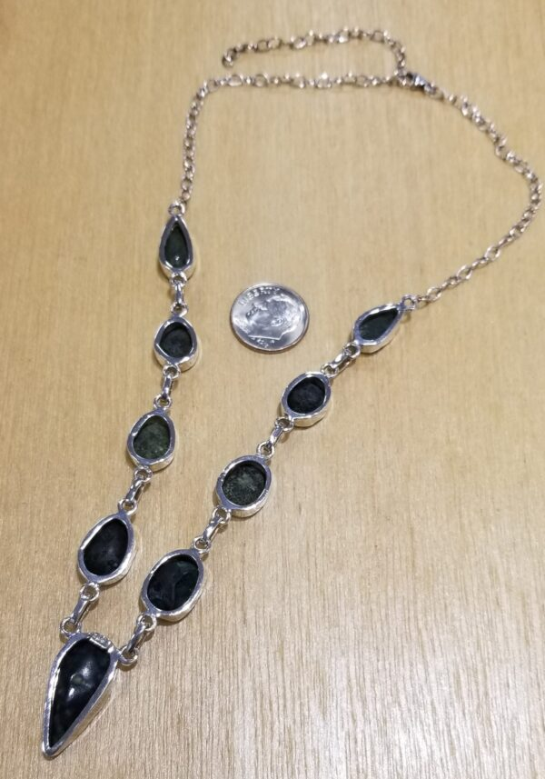 back of gray geode necklace