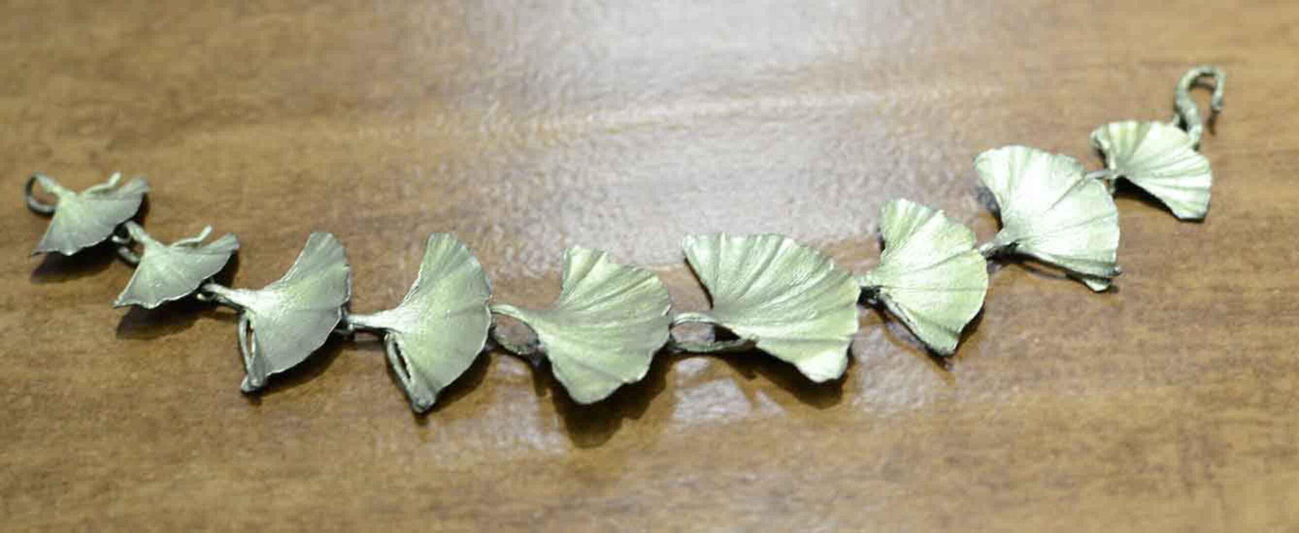 Michael Michaud Silver Seasons Ginkgo leaf bracelet