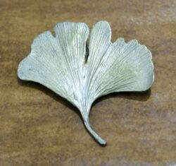 Michael Michaud Silver Seasons Ginkgo leaf brooch pin