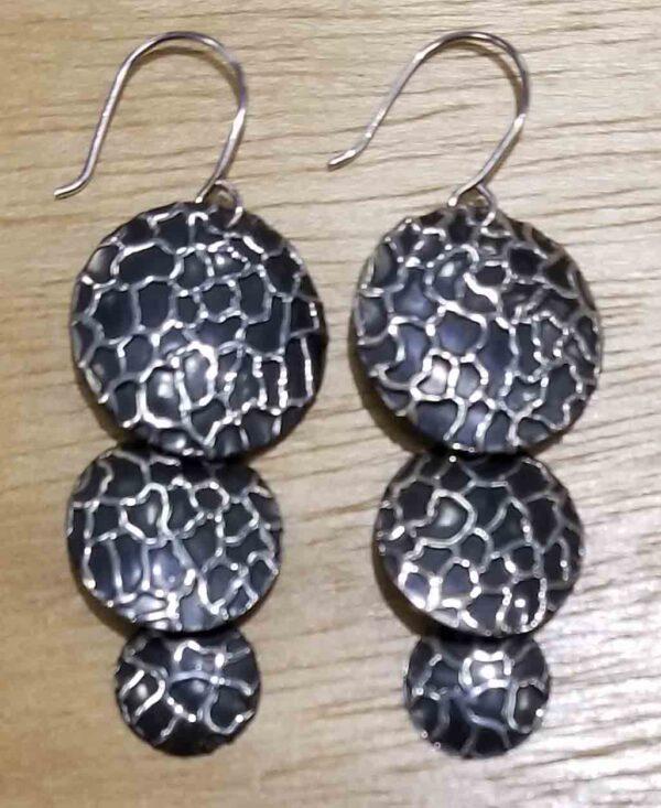 sterling silver giraffe print earrings