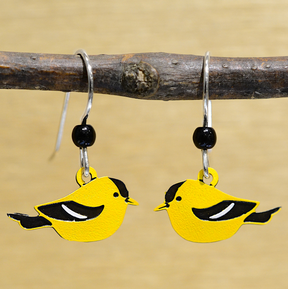 yellow and black Goldfinch Sienna Sky earrings
