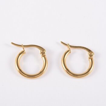 gold-plated stainless steel small hoop earrings