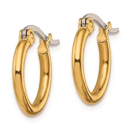 gold-plated stainless steel petite hoop earrings