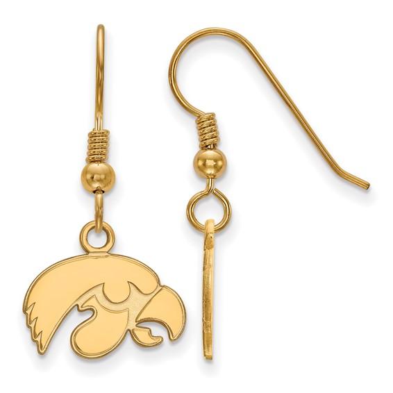 gold-plated sterling silver University of Iowa Hawkeye earrings