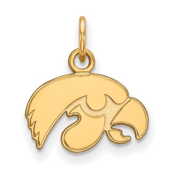University of Iowa Hawkeyes gold-plated sterling silver tigerhawk charm pendant